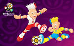 Buefa Euro 2012 B Mascots Paying Game Purple Wallpapers Buefa Euro B B B