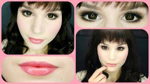 baby doll makeup halloween cute everyday doll makeup youtube
