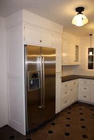 kitchen cabinets around refriagerator your refrigerator area