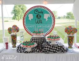 s themed party  sincerely sara d with s party  from sincerelysaradcom