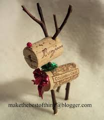 make the best of things teeny tiny wine cork reindeer she s