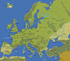 map of europe map of europe with major cities major tourist