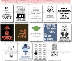 Star Wars Room Decor Etsy by Star Wars Lunch Note Cards Inspirational Motivational