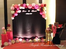 wedding backdrop kl floral tissue flower wedding decoration inn glenmarie