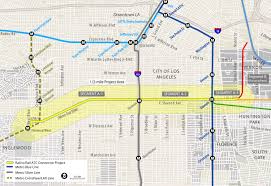 Metro Rail Dc Map by Metro Receives Grant For Bike Path In South L A The Source
