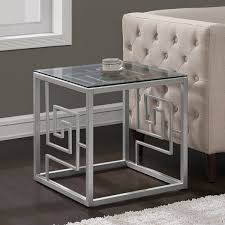 round silver accent table the silver accent table icedteafairyclub with regard to silver end