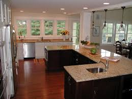 Kitchen Sink Window Ideas U Shaped Kitchen White Granite Countertop Materilal Frosted Glass