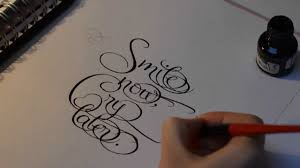 calligraphy smile now cry later keilija youtube