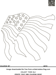 American State Flags Free American Flag Coloring Pages