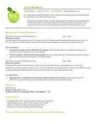 resume templates for educators exle of resume format for free homeroom resume