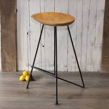 industrial counter stools vintage metal stool with back rail car
