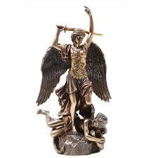 archangel st michael 10 inch statue bronze christian art angel statue archangel st michael 10 inch bronze christian statue at mystic convergence wiccan supplies pagan