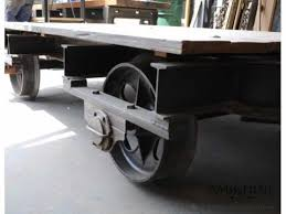 Car Wheel Coffee Table by Antique Factory Cart Coffee Table With Train Wheels