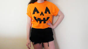 diy halloween costume jack o u0027 lantern pumpkin crop top youtube
