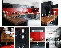black and red kitchen design the modern chic kitchen design trends 2016