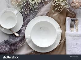 Beautiful Menu Table Menu Mockup Wedding Fashion Photography Stock Photo