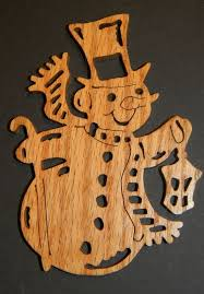 just me let it snow snowman ornaments scroll saw