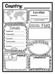 country report template middle school 11 x 17 book resport page pinteres