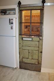 Used Barn Door Hardware by Sliding Barn Door Pantry Makeover With Wood Slat Shelves