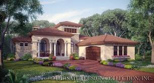 tuscan house home plan casina rossa sater design collection