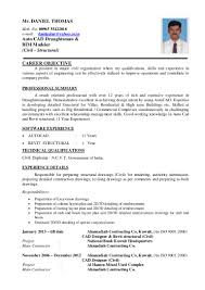 Chronological Sample Resume by Daniel C V New 29 03 2015