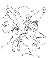 free printable horse coloring pages kids coloring flying