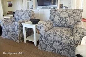 Printed Chairs Living Room by Printed Linen Slipcovers The Slipcover Maker