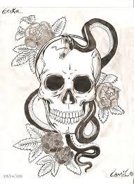 skull snake anr roses by xxhalloween13xx on deviantart
