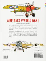 airplanes of world war i coloring book dover history coloring