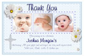 baptism template personalised christening thank you cards personalised baptism