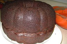 halloween jack o u0027lantern cake in her kitchen