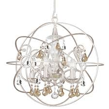 Crystal Sphere Chandelier Crystorama Crystorama Solaris 5 Light Gold Crystal Silver Sphere
