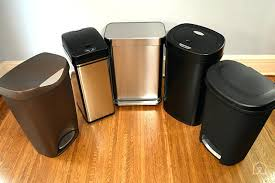 Kitchen Cabinet Trash Can Indoor Trash Cans Two Tone Kitchen Cabinets To Make Your Space
