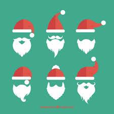 santa beard santa claus beards collection vector free