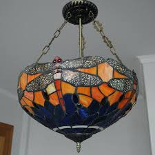 Stained Glass Light Fixtures Iris Inverted Pendant Light Ceiling Lights Lighting Fixtures Lamps