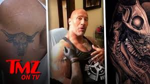 the rock u201cevolves u201d his infamous bull tattoo tmz tv youtube