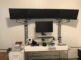 Lx Hd Sit Stand Desk Mount Lcd Arm Wip 7 Monitor Sit Stand Cryptotrading Station Dual Monitor Sit