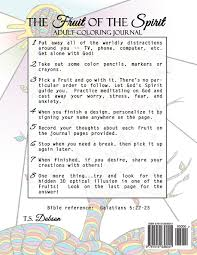 amazon com fruit of the spirit coloring journal