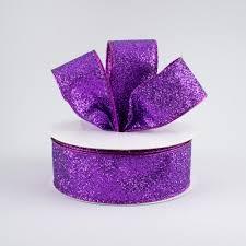 metallic ribbon 1 5 glitter on metallic ribbon purple 10 yards rj403023