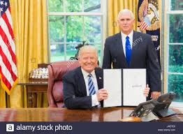 Oval Office Trump by U S President Donald Trump Displays The Signed Executive Order