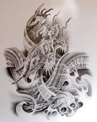 tribal dragon tattoo sketch photos pictures and sketches