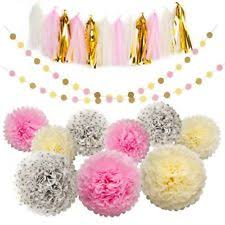 Gold And Pink Party Decorations Baby Shower Princesses Party Decorations Ebay