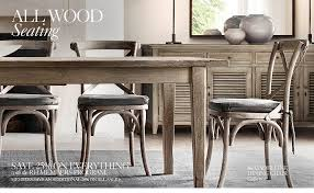all wood seating rh