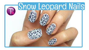 snow leopard nail tutorial hannahroxnails youtube