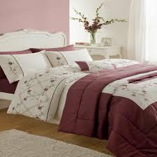 luxurious caitlyn plum duvet quilt cover set bedspread u0026 curtains