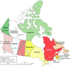 canadian map and capitals map of canada with capital cities and provinces major