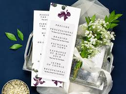 what goes on a wedding program wedding programs match your style get free sles