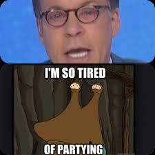 Bob Costas Meme - costas doesn t have pinkeye he s just tired of partying and