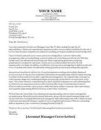 account manager cover letter example icover sample uva career