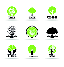vector trees logos creative design set 02 welovesolo